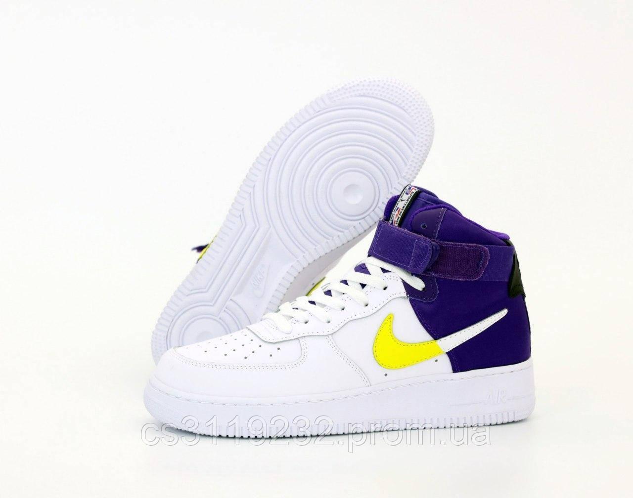 Чоловічі кросівки Nike Air Force 1 High Violet White (фіолетово-білі)