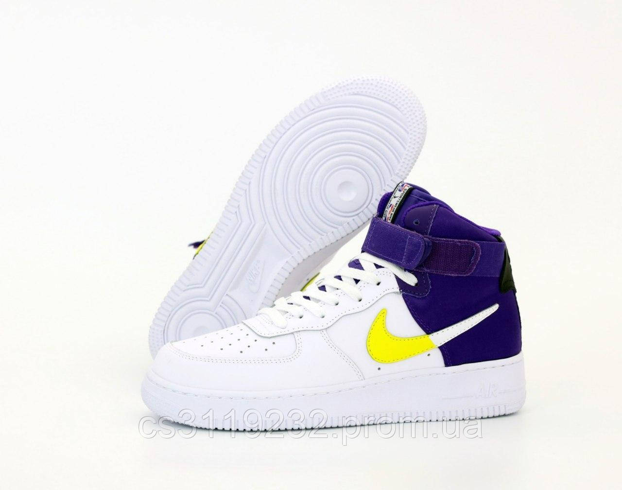 Мужские кроссовки Nike Air Force 1 High Violet White (фиолетово-белые)