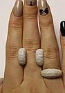 Комплект серебряный с россыпью фианитов Сильвия, фото 2
