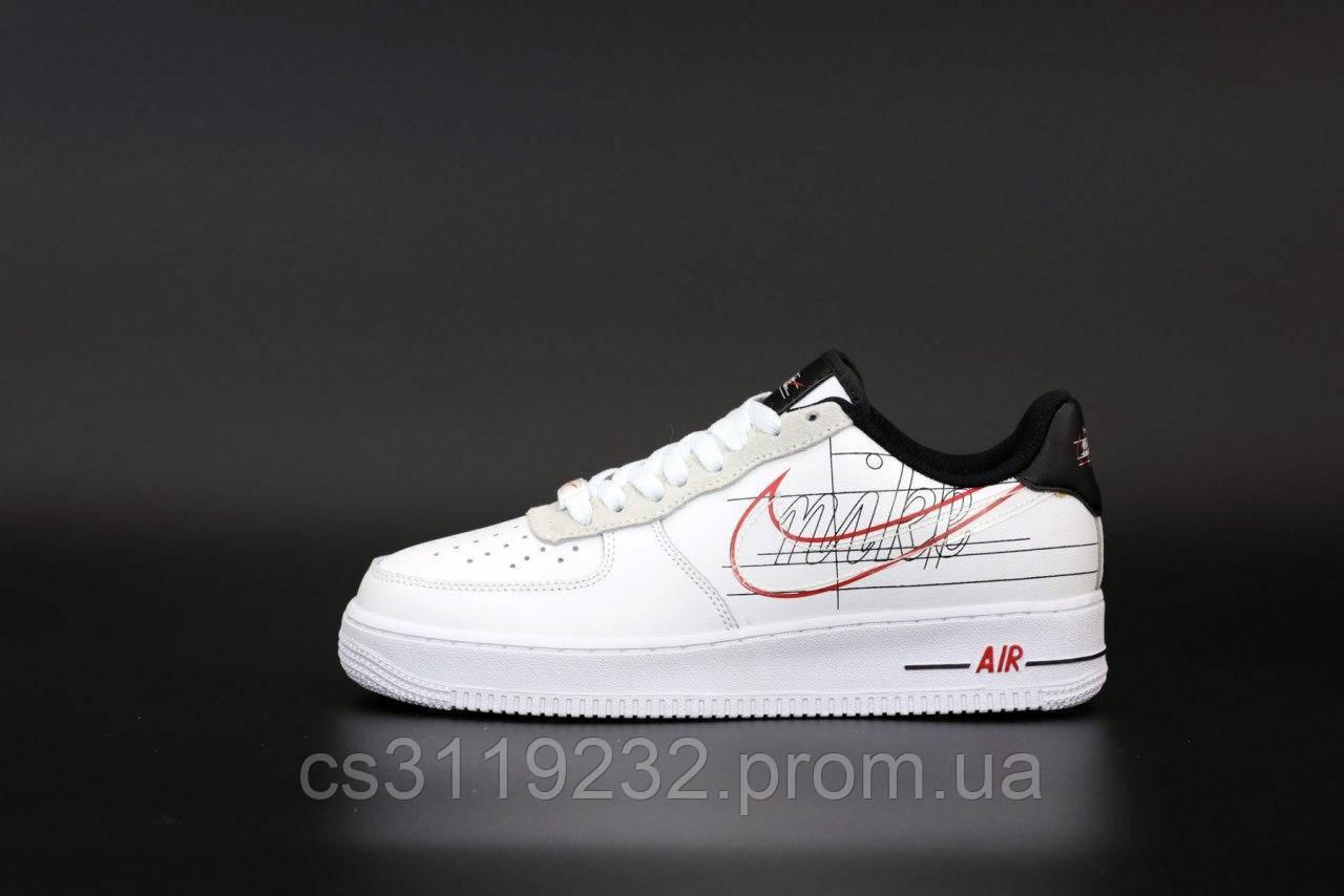 Мужские кроссовки Nike Air Force 1 07 LX White (белые)