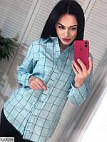 Модная женская рубашка в клетку хлопок арт 4209