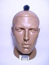 Меховой помпон Кролик РЕКС, Т. Серый, 3 см, 898, фото 2