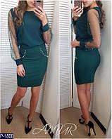 Красивая нарядная блузка с жемчугом арт 216
