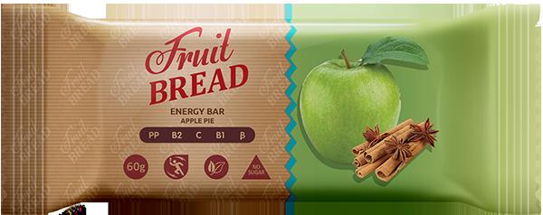 Батончик Яблочный пирог Fruit Bread, 60г,  Сладкий мир