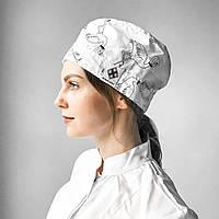Медицинская шапочка с принтом фламинго