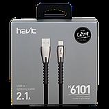 Кабель для передачи данных смартфона Havit HV-H6101, lightning black, фото 2