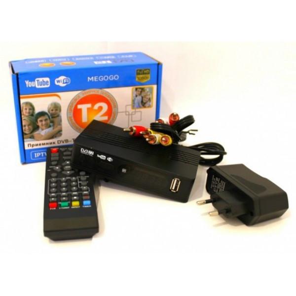 Тюнер Т2 ТБ ресивер DVB-T2 MEGOGO з LCD і підтримкою Wi-Fi