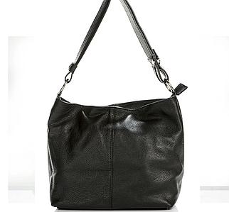 Женская итальянская натуральная кожаная сумка 24х26х13