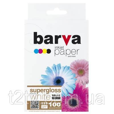 Бумага BARVA 10x15, 255 g/m2, PROFI, 100арк, supergloss (R255-265)