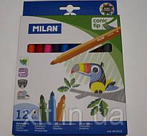 Фломастеры Milan 12 цветов