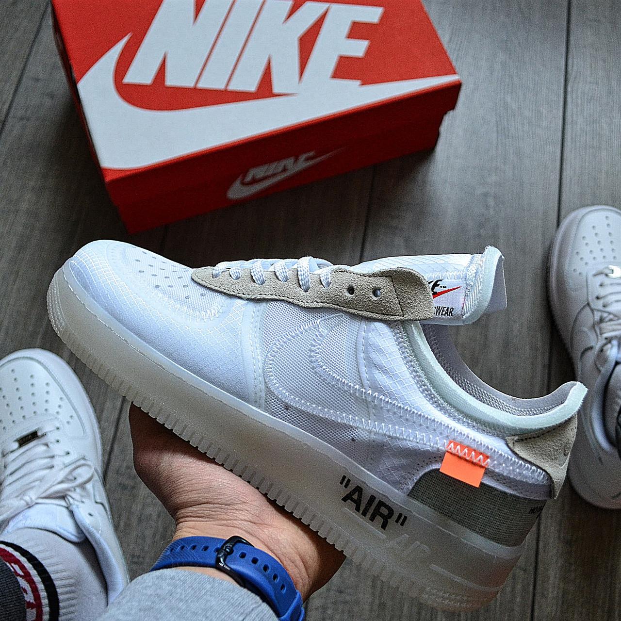 Мужские кроссовки в стиле Off-White x Nike Air Force 1 White