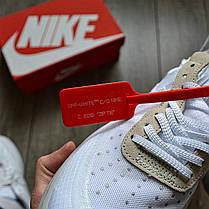 Мужские кроссовки в стиле Off-White x Nike Air Force 1 White, фото 2