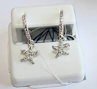 Детские сережки с подвесом Морская звезда, фото 1