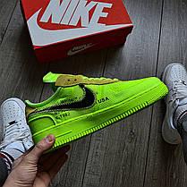 Мужские кроссовки в стиле Off-White x Nike Air Force 1 Volt, фото 2