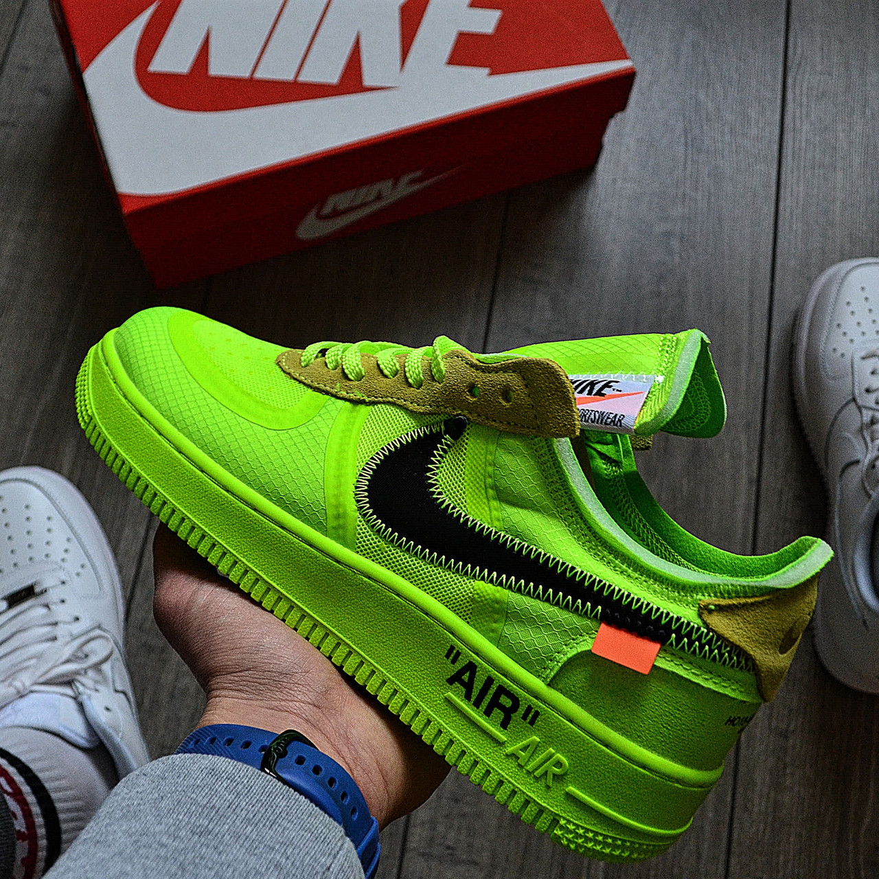 Мужские кроссовки в стиле Off-White x Nike Air Force 1 Volt