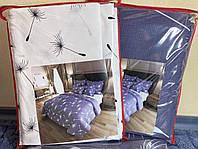 """Комбинированный двухспальный комплект постельного белья """"Нежные Одуванчики"""". Материал Бязь Голд Люкс."""