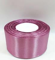 "Стрічка атласна ""рожевої камеї"" однотонна (ширина 4см)1 рул-22м, фото 1"