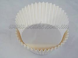 Бумажныя формы для маффинов белые