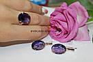 Украшения с фиолетовым аметистом Муза, фото 5