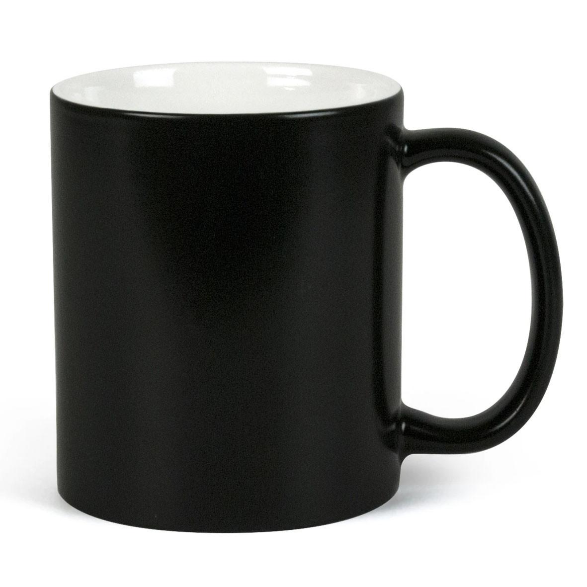 Чашка для сублимации хамелеон МАТОВЫЙ 330 мл (черный)