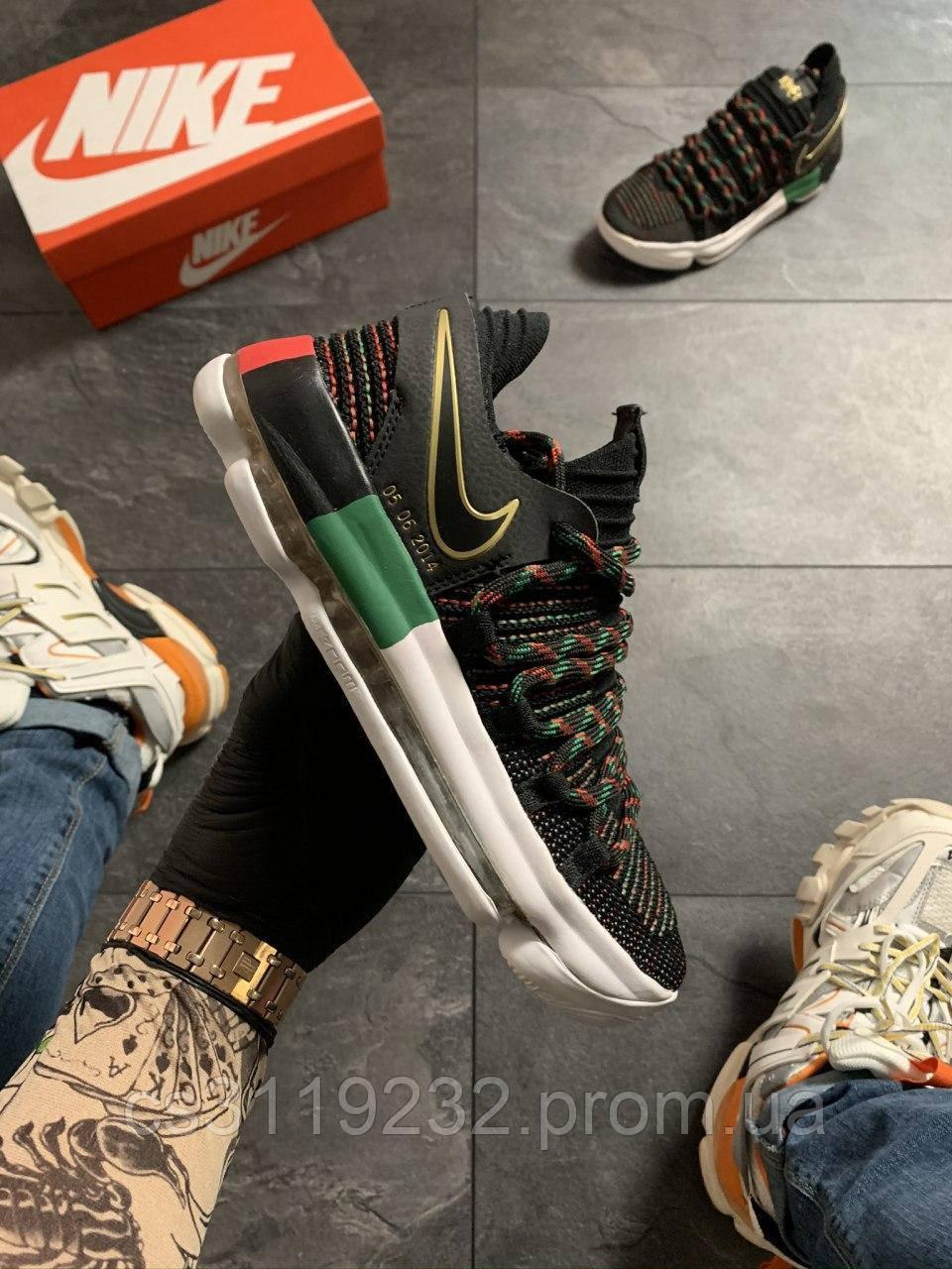 Мужские кроссовки Nike KD 10 Black (черные)