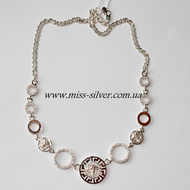 Серебряное ожерелье Версаче