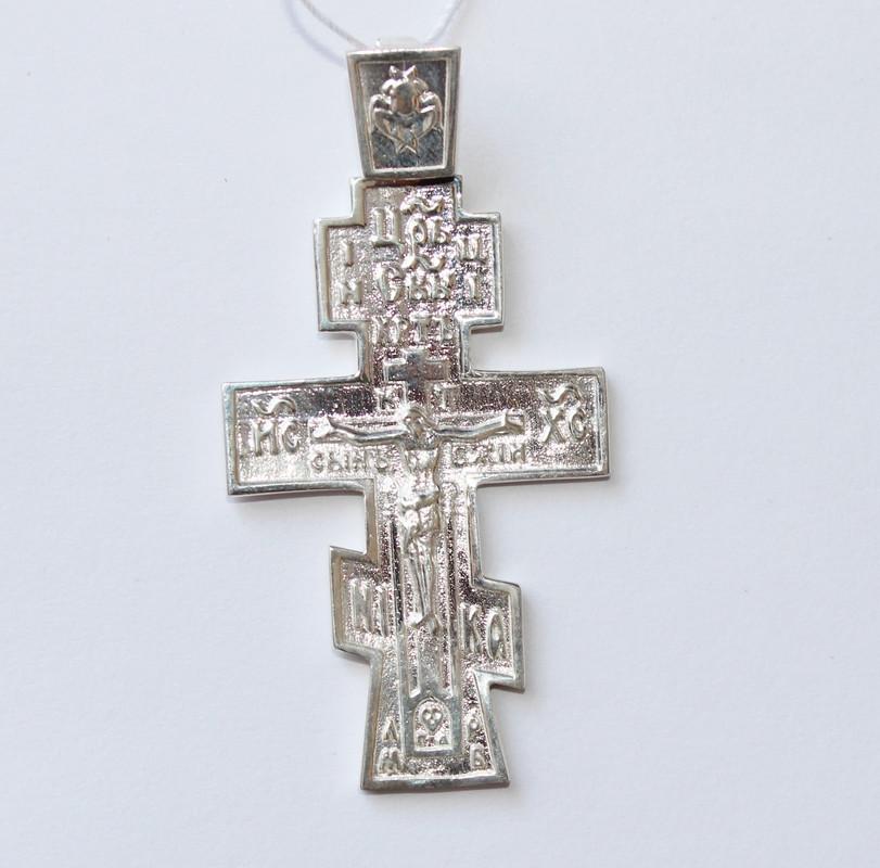 Крест нательный серебро