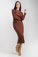 Женский вязаный комплект состоит из джемпера и удлиненной юбки..Разные цвета., фото 1