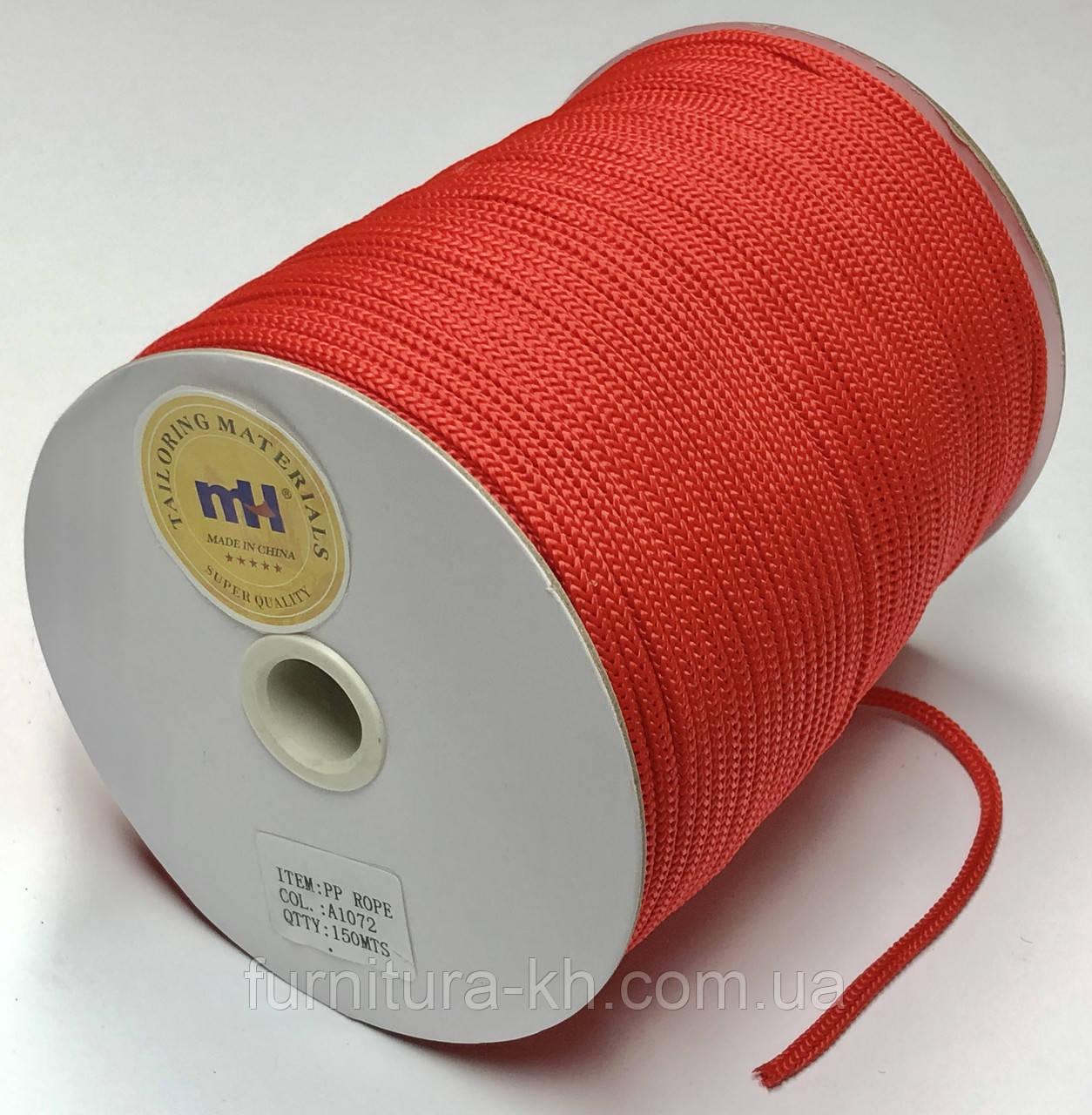 Шнур Круглый(одежный)Цвет Красный.Диаметр 4 мм Длина 150 метров