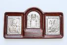 Серебряная Икона  Трех Святых, фото 3