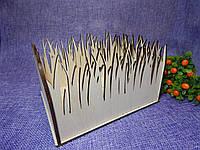 Декоративный подарочный ящик из дерева, деревянная коробка-кашпо для цветов 18*14*8,5см