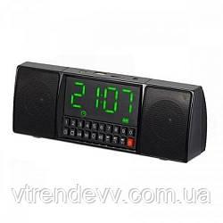 Колонка-часы с МР3 плеером и радио FM BT WS1515 Black