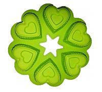 Форма силиконовая Сердечки круглая