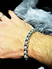 Серебряный мужской браслет Лео, фото 3