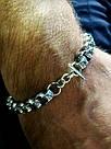 Серебряный мужской браслет Лео, фото 4