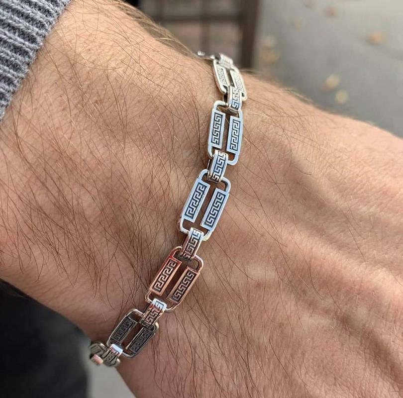 Мужской браслет в серебре Марк