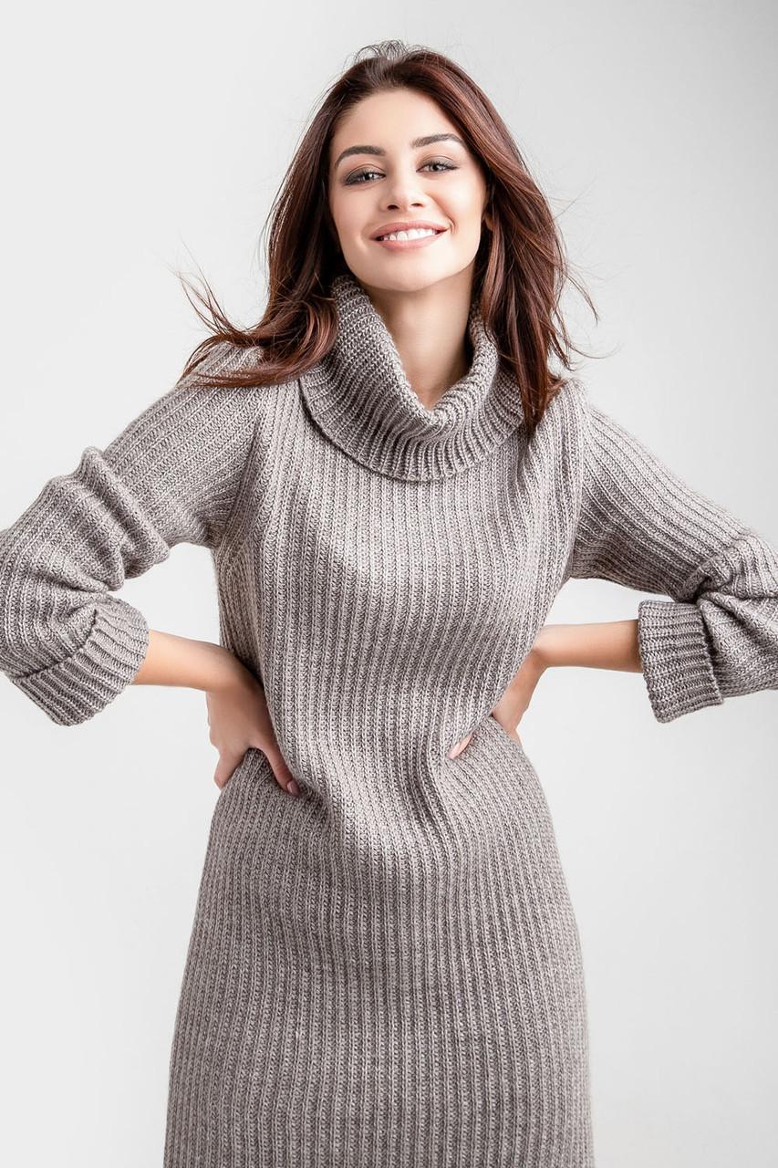 Модне в'язане молодіжне плаття-светр 42-46, розмір 48-52