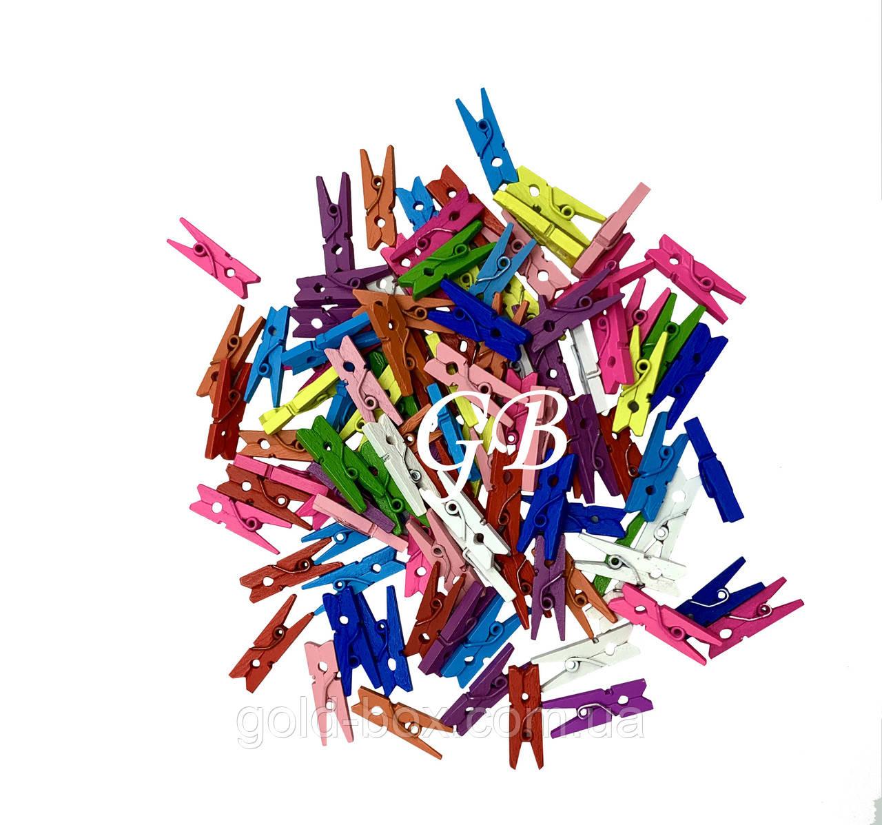Декоративная прищепка цветная 2,5см 500шт оптом