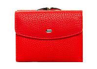 Женский кожаный кошелек 12*9,5*3 красный, фото 1