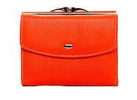 Женский кожаный кошелек 12*9,5*3 оранжевый, фото 1