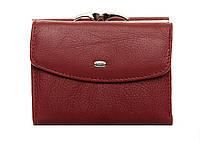 Жіночий шкіряний гаманець 12*9,5*3 бордовий, фото 1