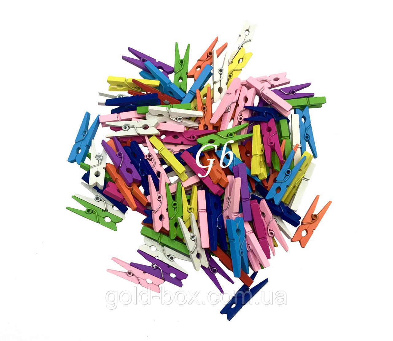 Декоративные прищепки цветные оптом 3см 1000шт оптом