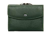 Женский кожаный кошелек 12*9,5*3 зеленый, фото 1