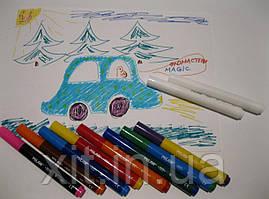 Волшебные фломастеры Milan 8 цветов + 2 MAXI Magic