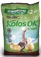 Комбикорм старт для цыплят, водоплавной птицы (1-8 недель) Kolosok 10 кг