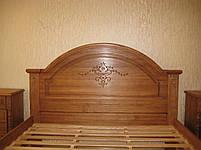 Двоспальне ліжко з масиву дерева ясена 160х200, фото 2