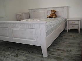 Двуспальная кровать из массива дерева ольхи 160х200