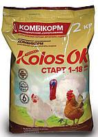 Комбикорм старт для бройлеров, индюшат (1-18 дней) Kolosok 10 кг