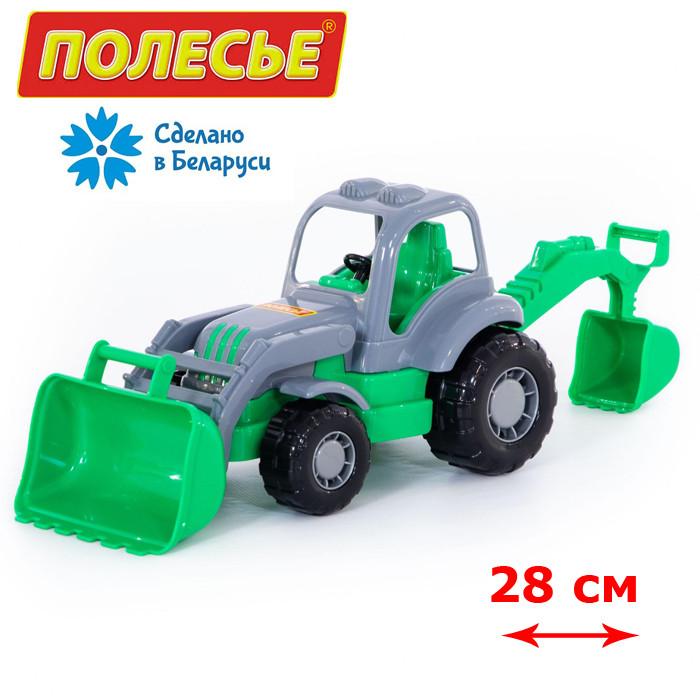"""Игрушка трактор-экскаватор """"Крепыш"""" POLESIE серо - зеленый (44785-2)"""