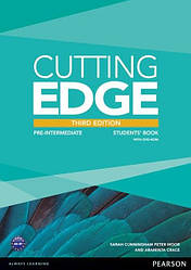 Cutting Edge Third Edition Pre-Intermediate Students' Book with DVD-ROM